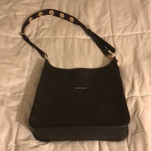 Michael Kors Black/Gold leather Crossbody satchel